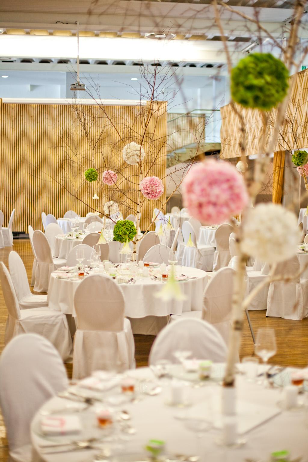 Birkenhochzeit floral m for Raumgestaltung hochzeit
